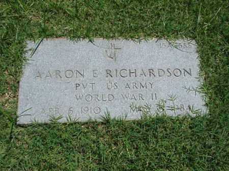 RICHARDSON (VETERAN WWII), AARON E - Pulaski County, Arkansas | AARON E RICHARDSON (VETERAN WWII) - Arkansas Gravestone Photos