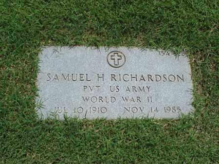 RICHARDSON (VETERAN WWII), SAMUEL H - Pulaski County, Arkansas | SAMUEL H RICHARDSON (VETERAN WWII) - Arkansas Gravestone Photos