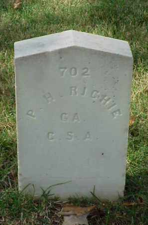RICHIE (VETERAN CSA), P H - Pulaski County, Arkansas | P H RICHIE (VETERAN CSA) - Arkansas Gravestone Photos