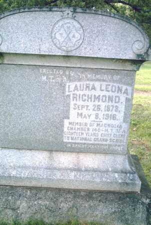 RICHMOND, LAURA LEONA - Pulaski County, Arkansas | LAURA LEONA RICHMOND - Arkansas Gravestone Photos