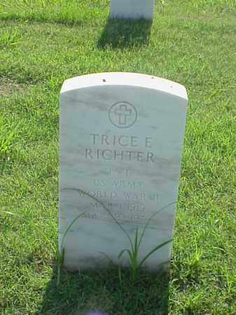 RICHTER (VETERAN WWII), TRICE E - Pulaski County, Arkansas | TRICE E RICHTER (VETERAN WWII) - Arkansas Gravestone Photos