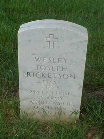 RICKETSON (VETERAN WWII), WESLEY JOSEPH - Pulaski County, Arkansas | WESLEY JOSEPH RICKETSON (VETERAN WWII) - Arkansas Gravestone Photos