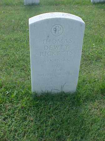 RICKETTS (VETERAN 2 WARS), THOMAS DEWEY - Pulaski County, Arkansas | THOMAS DEWEY RICKETTS (VETERAN 2 WARS) - Arkansas Gravestone Photos