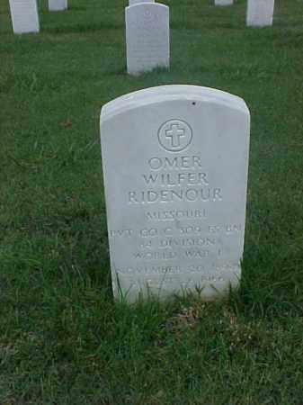 RIDENOUR (VETERAN WWI), OMER WILFER - Pulaski County, Arkansas | OMER WILFER RIDENOUR (VETERAN WWI) - Arkansas Gravestone Photos