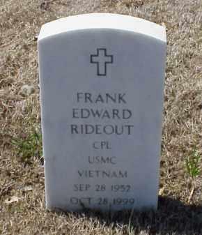 RIDEOUT (VETERAN VIET), FRANK EDWARD - Pulaski County, Arkansas | FRANK EDWARD RIDEOUT (VETERAN VIET) - Arkansas Gravestone Photos