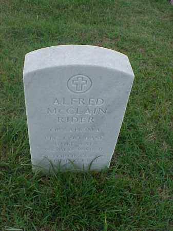 RIDER (VETERAN WWII), ALFRED MCCLAIN - Pulaski County, Arkansas | ALFRED MCCLAIN RIDER (VETERAN WWII) - Arkansas Gravestone Photos