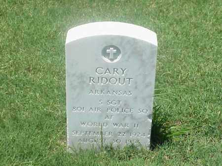 RIDOUT (VETERAN WWII), CARY - Pulaski County, Arkansas | CARY RIDOUT (VETERAN WWII) - Arkansas Gravestone Photos