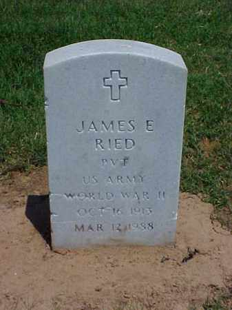 RIED (VETERAN WWII), JAMES E - Pulaski County, Arkansas | JAMES E RIED (VETERAN WWII) - Arkansas Gravestone Photos