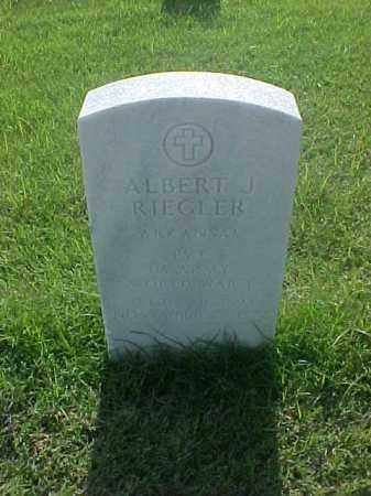 RIEGLER (VETERAN WWI), ALBERT J - Pulaski County, Arkansas | ALBERT J RIEGLER (VETERAN WWI) - Arkansas Gravestone Photos