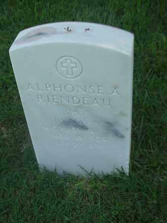 RIENDEAU (VETERAN WWII), ALPHONSE A - Pulaski County, Arkansas | ALPHONSE A RIENDEAU (VETERAN WWII) - Arkansas Gravestone Photos