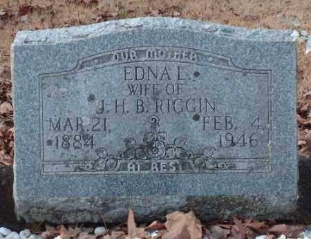 RIGGIN, EDNA L. - Pulaski County, Arkansas | EDNA L. RIGGIN - Arkansas Gravestone Photos