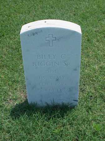 RIGGIN, SR (VETERAN), BILLY C - Pulaski County, Arkansas | BILLY C RIGGIN, SR (VETERAN) - Arkansas Gravestone Photos