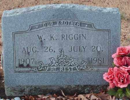 RIGGIN, W.K. - Pulaski County, Arkansas | W.K. RIGGIN - Arkansas Gravestone Photos