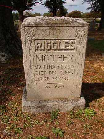 RIGGLES, MARTHA - Pulaski County, Arkansas | MARTHA RIGGLES - Arkansas Gravestone Photos