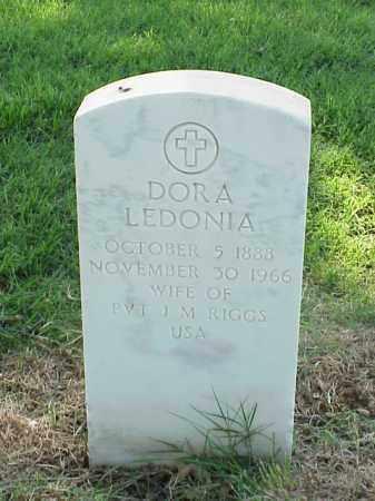 RIGGS, DORA LEDONIA - Pulaski County, Arkansas | DORA LEDONIA RIGGS - Arkansas Gravestone Photos