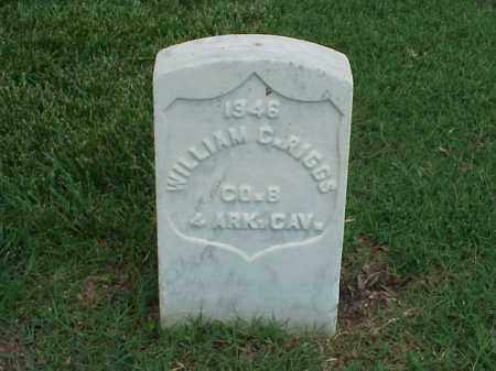 RIGGS (VETERAN UNION), WILLIAM C - Pulaski County, Arkansas | WILLIAM C RIGGS (VETERAN UNION) - Arkansas Gravestone Photos