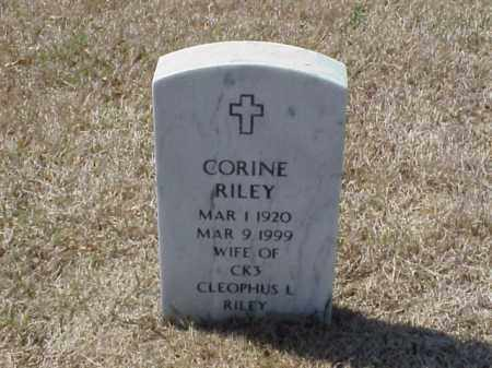 RILEY, CORINE - Pulaski County, Arkansas | CORINE RILEY - Arkansas Gravestone Photos