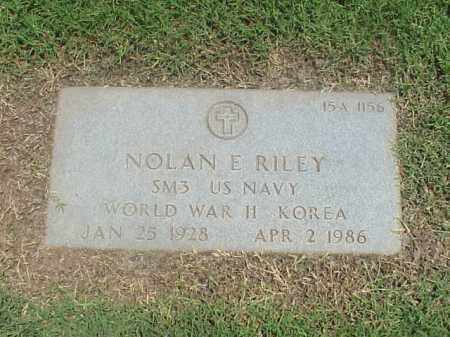 RILEY (VETERAN 2 WARS), NOLAN E - Pulaski County, Arkansas | NOLAN E RILEY (VETERAN 2 WARS) - Arkansas Gravestone Photos