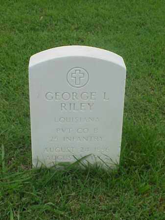 RILEY (VETERAN), GEORGE L - Pulaski County, Arkansas | GEORGE L RILEY (VETERAN) - Arkansas Gravestone Photos