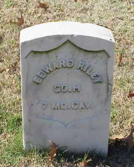 RILEY (VETERAN UNION), EDWARD - Pulaski County, Arkansas | EDWARD RILEY (VETERAN UNION) - Arkansas Gravestone Photos