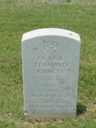 RIMKUS (VETERAN WWII), FRANK EDMUND - Pulaski County, Arkansas | FRANK EDMUND RIMKUS (VETERAN WWII) - Arkansas Gravestone Photos