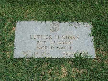 RINKS (VETERAN WWII), LUTHER H - Pulaski County, Arkansas | LUTHER H RINKS (VETERAN WWII) - Arkansas Gravestone Photos