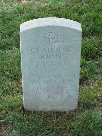 RION (VETERAN WWII), CLAUDE L - Pulaski County, Arkansas | CLAUDE L RION (VETERAN WWII) - Arkansas Gravestone Photos