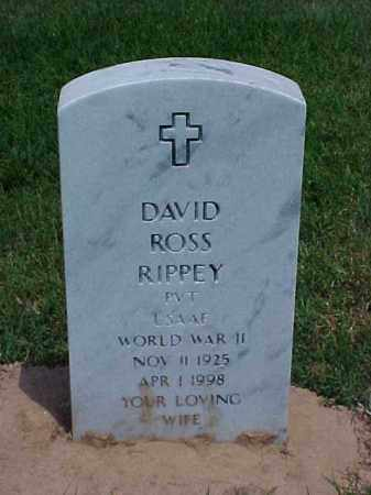 RIPPEY (VETERAN WWII), DAVID ROSS - Pulaski County, Arkansas | DAVID ROSS RIPPEY (VETERAN WWII) - Arkansas Gravestone Photos