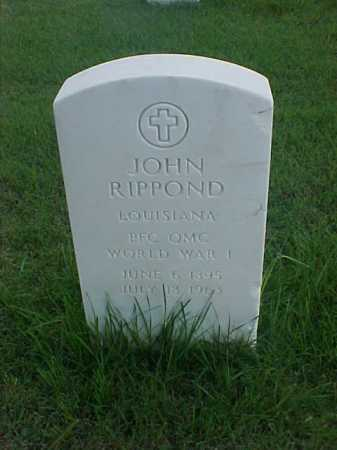 RIPPOND (VETERAN WWI), JOHN - Pulaski County, Arkansas | JOHN RIPPOND (VETERAN WWI) - Arkansas Gravestone Photos