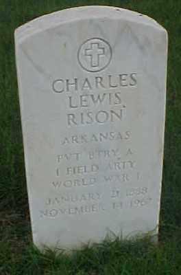 RISON (VETERAN WWI), CHARLES LEWIS - Pulaski County, Arkansas | CHARLES LEWIS RISON (VETERAN WWI) - Arkansas Gravestone Photos