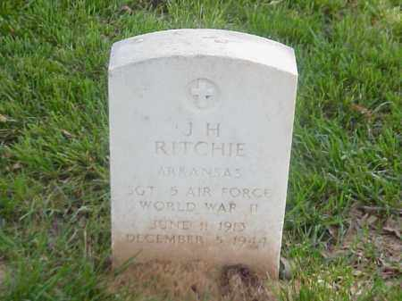 RITCHIE (VETERAN WWII), J H - Pulaski County, Arkansas | J H RITCHIE (VETERAN WWII) - Arkansas Gravestone Photos
