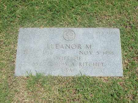 RITCHEY, ELEANOR M - Pulaski County, Arkansas | ELEANOR M RITCHEY - Arkansas Gravestone Photos