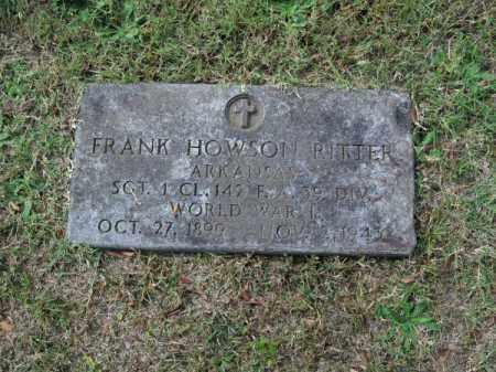 RITTER (VETERAN WWI), FRANK HOWSON - Pulaski County, Arkansas | FRANK HOWSON RITTER (VETERAN WWI) - Arkansas Gravestone Photos