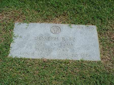 RITZ (VETERAN WWII), JOSEPH - Pulaski County, Arkansas | JOSEPH RITZ (VETERAN WWII) - Arkansas Gravestone Photos