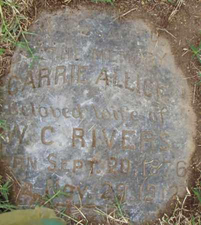 RIVERS, CARRIE  ALLICE - Pulaski County, Arkansas | CARRIE  ALLICE RIVERS - Arkansas Gravestone Photos
