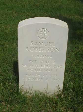 ROBERSON (VETERAN WWI), SAMUEL - Pulaski County, Arkansas | SAMUEL ROBERSON (VETERAN WWI) - Arkansas Gravestone Photos