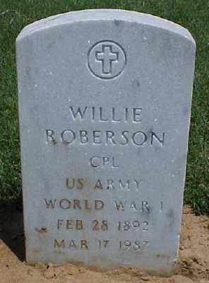 ROBERSON (VETERAN WWI), WILLIE - Pulaski County, Arkansas | WILLIE ROBERSON (VETERAN WWI) - Arkansas Gravestone Photos