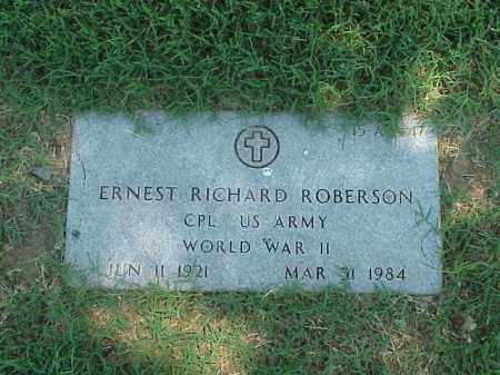 ROBERSON (VETERAN WWII), ERNEST RICHARD - Pulaski County, Arkansas | ERNEST RICHARD ROBERSON (VETERAN WWII) - Arkansas Gravestone Photos