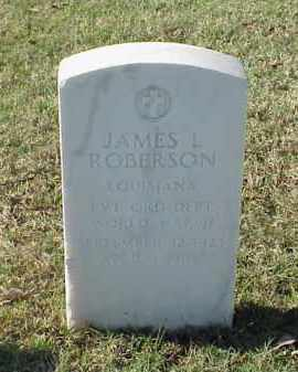 ROBERSON (VETERAN WWII), JAMES L - Pulaski County, Arkansas | JAMES L ROBERSON (VETERAN WWII) - Arkansas Gravestone Photos