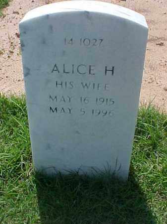 ROBERTS, ALICE H - Pulaski County, Arkansas | ALICE H ROBERTS - Arkansas Gravestone Photos