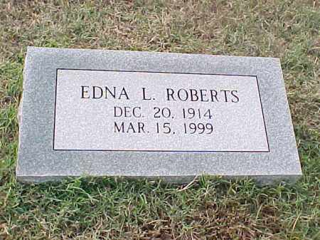 ROBERTS, EDNA L - Pulaski County, Arkansas | EDNA L ROBERTS - Arkansas Gravestone Photos