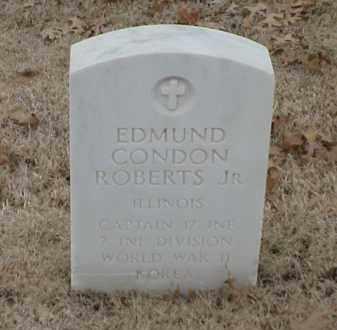 ROBERTS, JR  (VETERAN 2 WARS), EDMUND CONDON - Pulaski County, Arkansas | EDMUND CONDON ROBERTS, JR  (VETERAN 2 WARS) - Arkansas Gravestone Photos