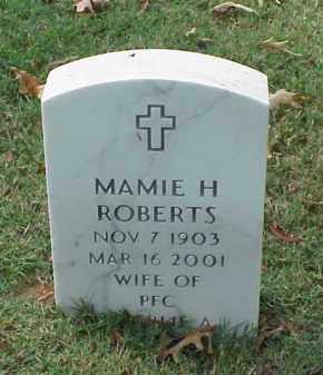 ROBERTS, MAMIE H - Pulaski County, Arkansas | MAMIE H ROBERTS - Arkansas Gravestone Photos