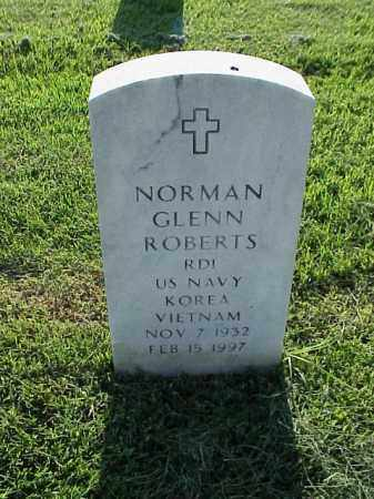 ROBERTS (VETERAN 2 WARS), NORMAN GLENN - Pulaski County, Arkansas | NORMAN GLENN ROBERTS (VETERAN 2 WARS) - Arkansas Gravestone Photos