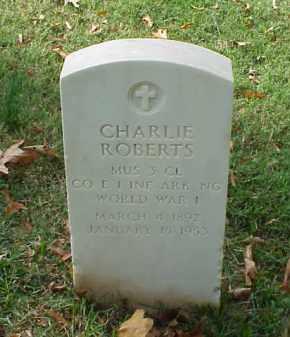 ROBERTS (VETERAN WWI), CHARLIE - Pulaski County, Arkansas | CHARLIE ROBERTS (VETERAN WWI) - Arkansas Gravestone Photos