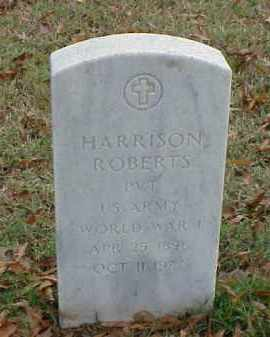 ROBERTS (VETERAN WWI), HARRISON - Pulaski County, Arkansas | HARRISON ROBERTS (VETERAN WWI) - Arkansas Gravestone Photos