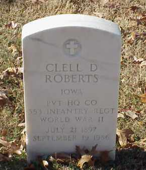 ROBERTS (VETERAN WWII), CLELL D - Pulaski County, Arkansas | CLELL D ROBERTS (VETERAN WWII) - Arkansas Gravestone Photos