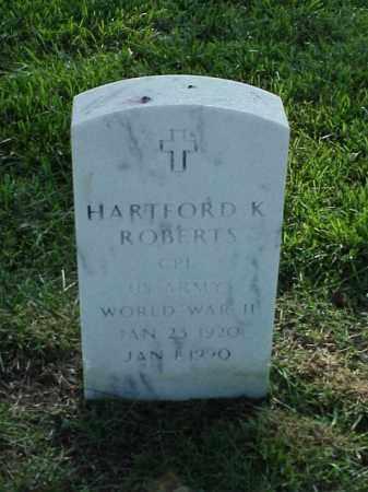 ROBERTS (VETERAN WWII), HARTFORD K - Pulaski County, Arkansas | HARTFORD K ROBERTS (VETERAN WWII) - Arkansas Gravestone Photos