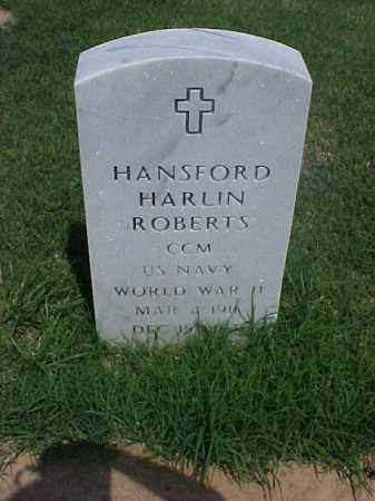 ROBERTS (VETERAN WWII), HANSFORD HARLIN - Pulaski County, Arkansas | HANSFORD HARLIN ROBERTS (VETERAN WWII) - Arkansas Gravestone Photos
