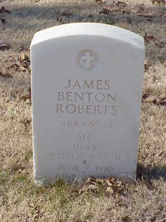 ROBERTS (VETERAN WWII), JAMES BENTON - Pulaski County, Arkansas | JAMES BENTON ROBERTS (VETERAN WWII) - Arkansas Gravestone Photos